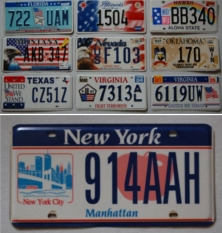 World Trade Center Nummernschilder
