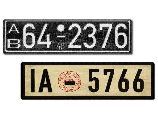 Nummernschilder Replikas