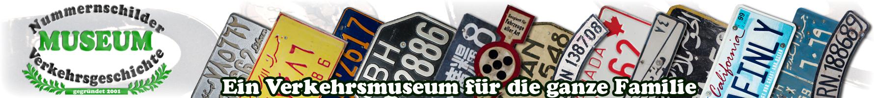 Nummernschildmuseum Header
