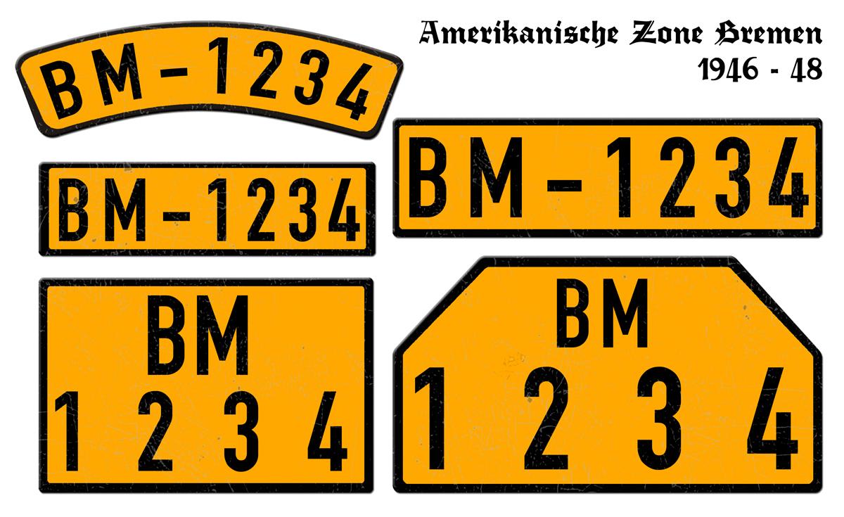 Amerikanische Zone Bremen 1946 bis 1948
