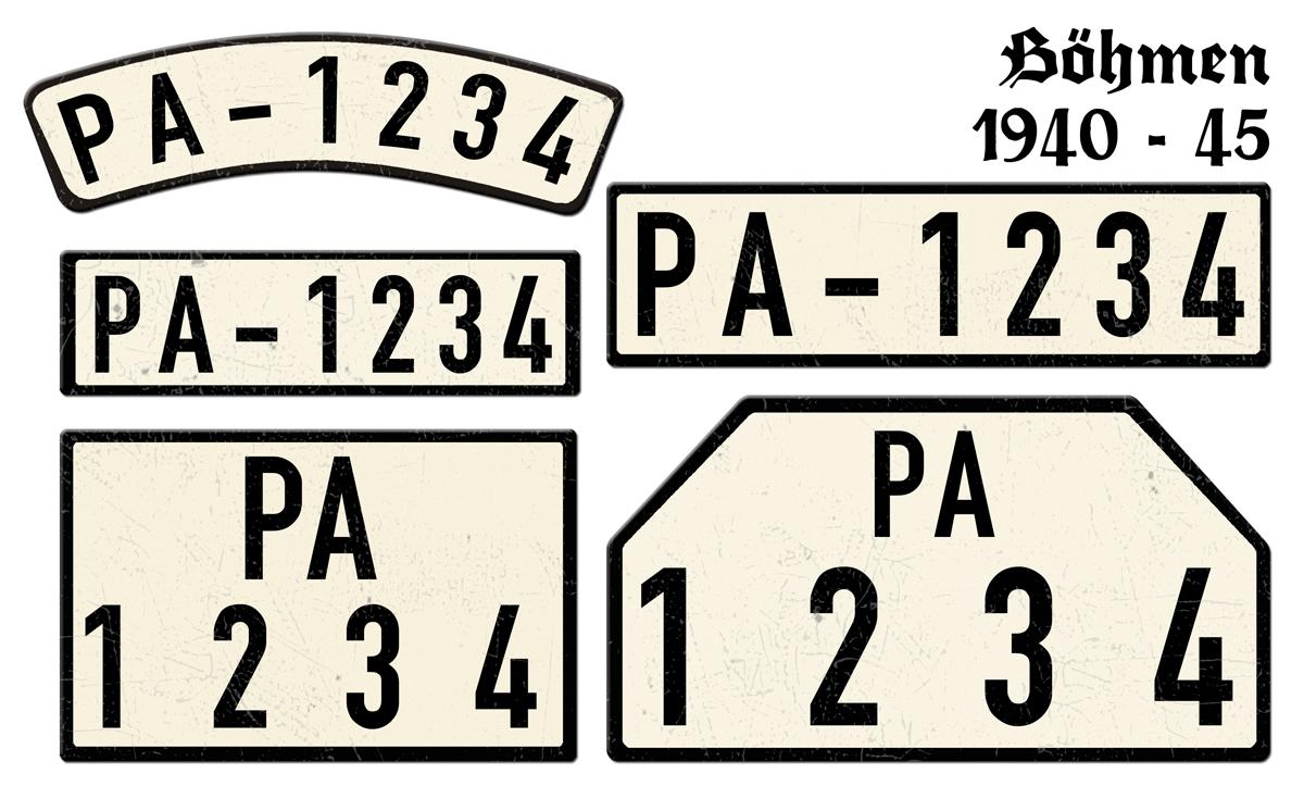 Böhmen 1940 bis 1945