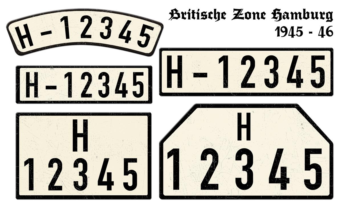 Britische Zone Hamburg 1945 bis 1946