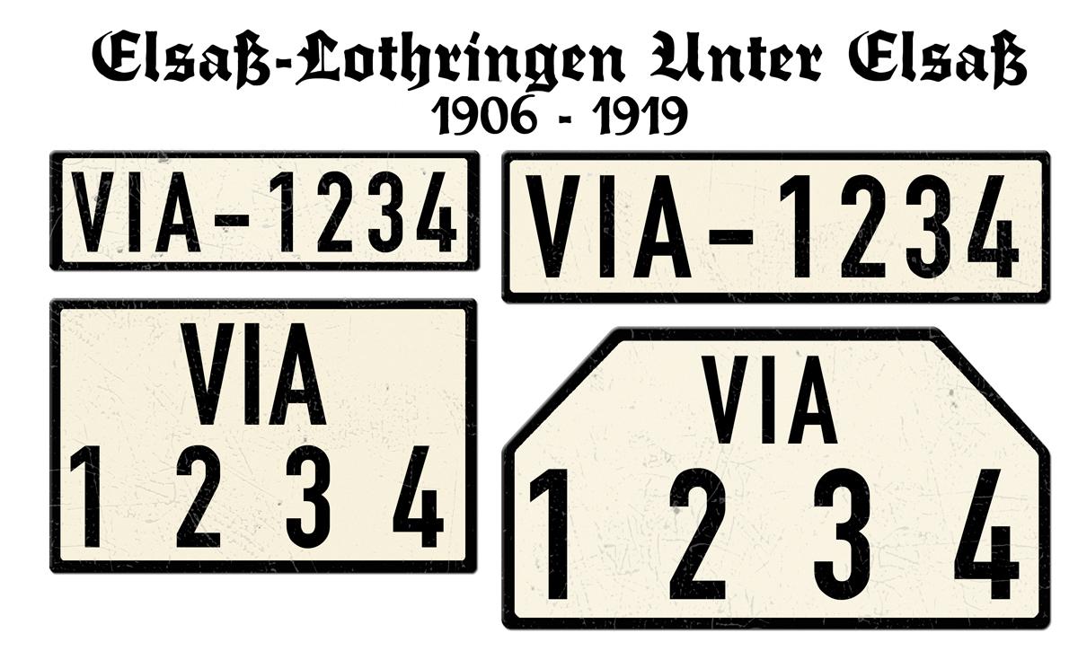 Elsaß Lothringen Unter Elsaß 1906 bis 1919