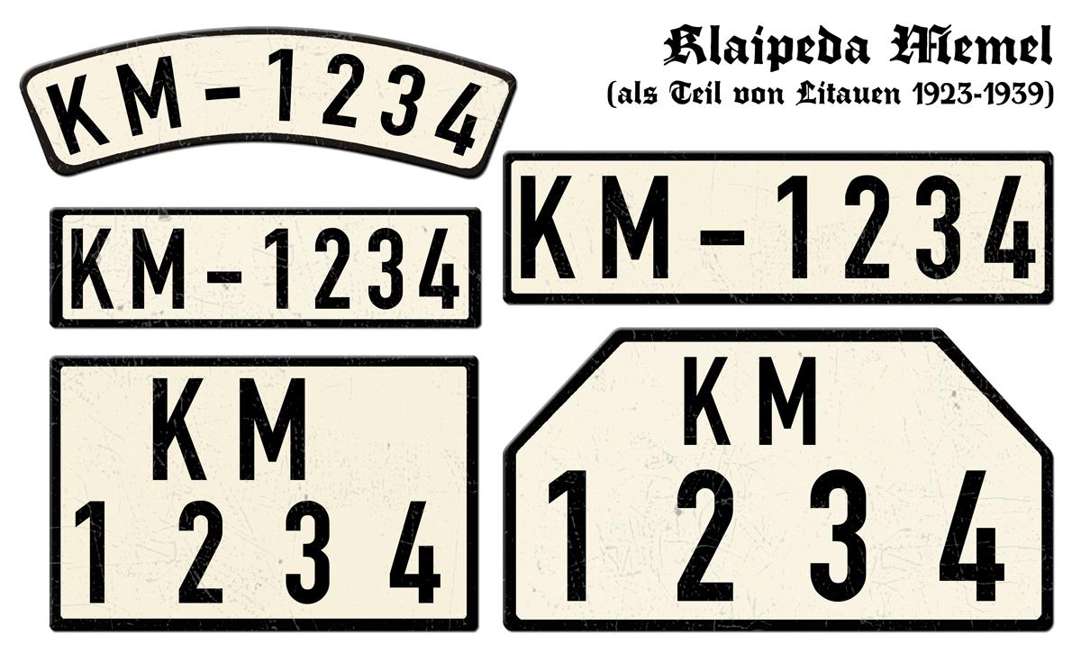 Klaipeda Memel als Teil von Litauen 1923 bis 1939