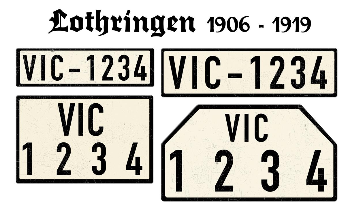 Lothringen 1906 bis 1919