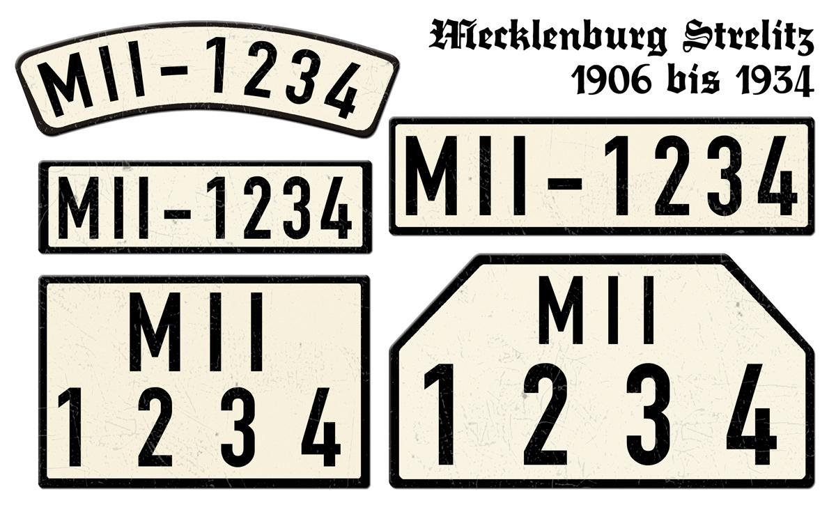 Mecklenburg Strelitz 1906 bis 1934