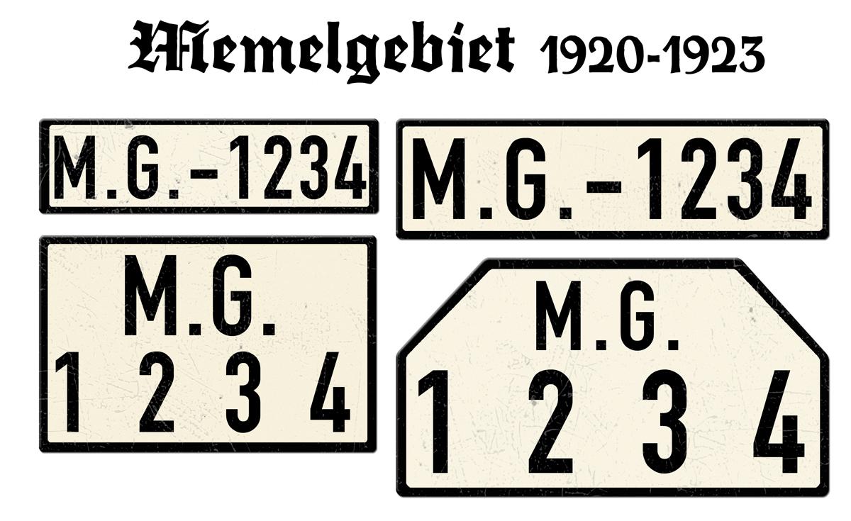 Memelgebiet 1920 bis 1923