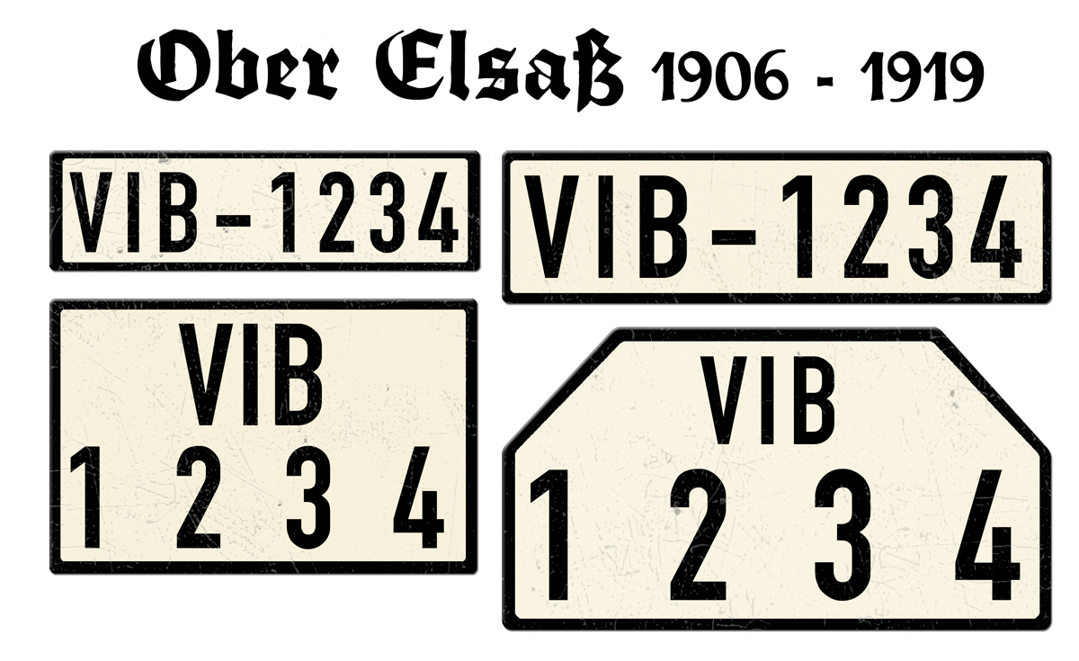 Ober Elsaß 1906 bis 1919