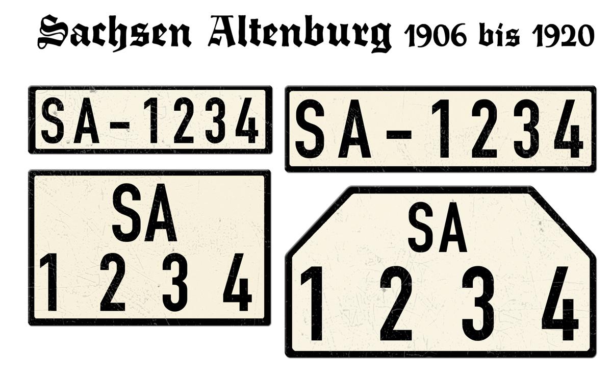 Sachsen Altenburg 1906 bis 1920