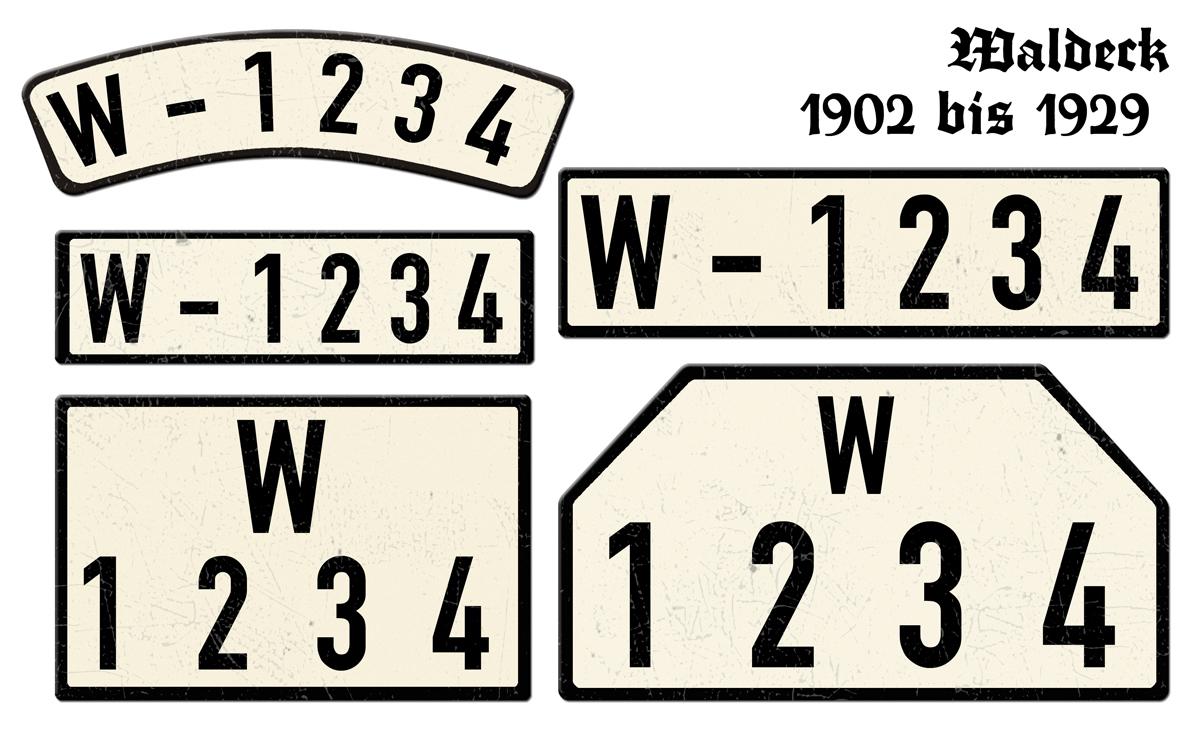 Waldeck 1902 bis 1929