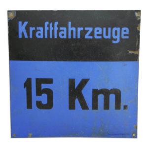 Verkehrsschild Geschwindigkeitsbegrenzung Kraftfahrzeuge 15 km