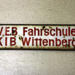 altes DDR VEB Fahrschulschild