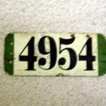 Fahrrad Nummernschild aus der Kaiserzeit