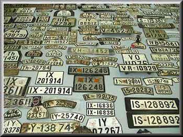 Übersicht alte deutsche Kennzeichen