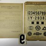 Alte Abziehbilder für Nummernschilder von vor 1945