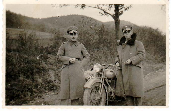 RW Reichwehr Krad mit Beiwagen