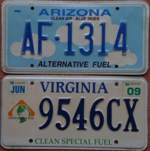 Nummernschilder für alternative oder saubere Antriebstechnik