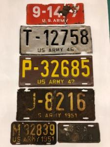 US Army in Germany Nummernschilder