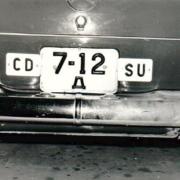 UDSSR Mercedes Benz PKW Diplomaten Nummernschild und CD